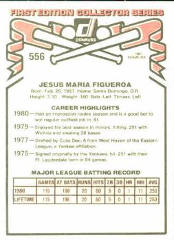 1981 Donruss Jesus Figueroa (back - no traded)