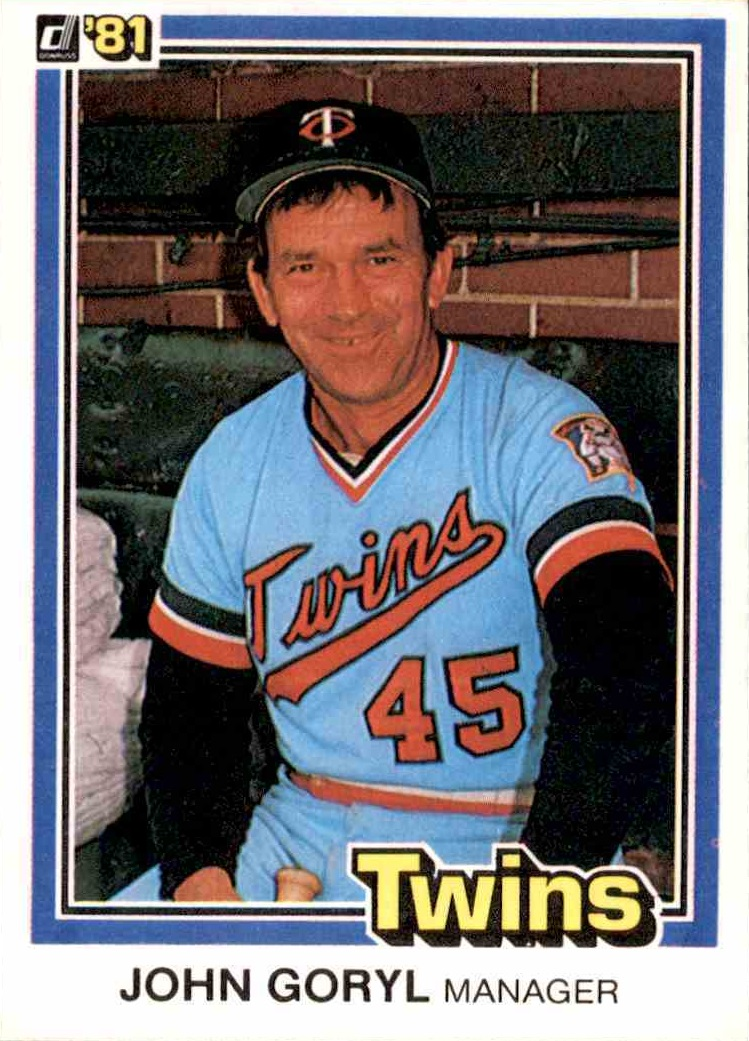 1981 Donruss Johnny Goryl Baseball Card A Journey Into The