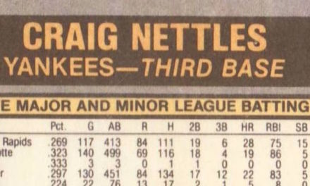 """Oh, Say Can You """"C"""" How 1981 Fleer Baseball Cards adn Craig Nettles Changed the Hobby?"""