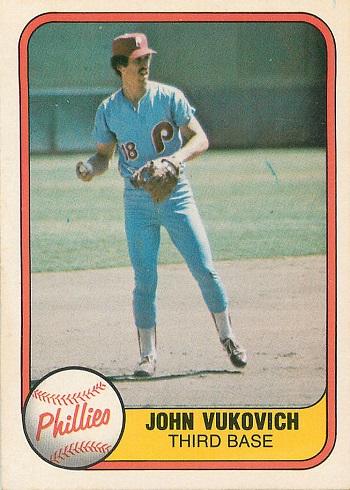 1981 Fleer John Vukovich