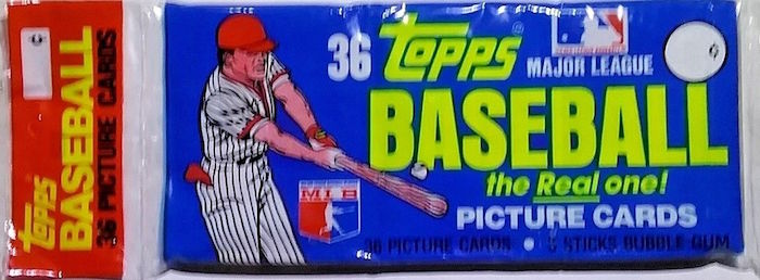 1981 Topps Baseball Unopened Grocery Rack Pack