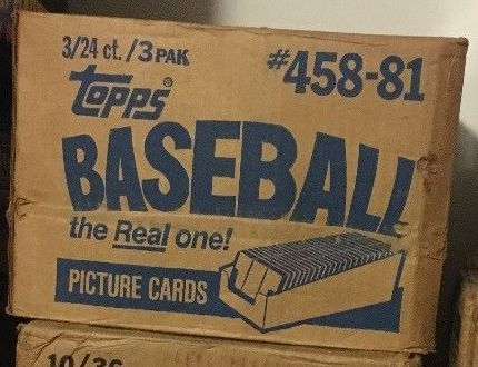 1981 Topps Baseball Unopened Rack Pack Case