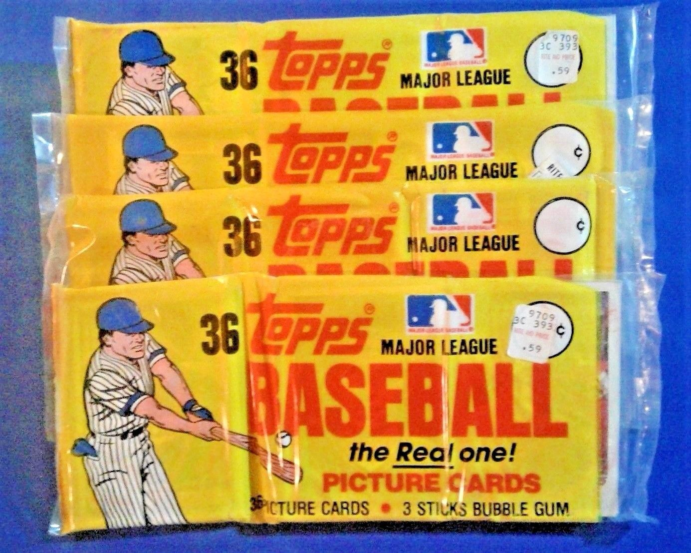 1982 Topps Baseball Unopened Grocery Rack Packs