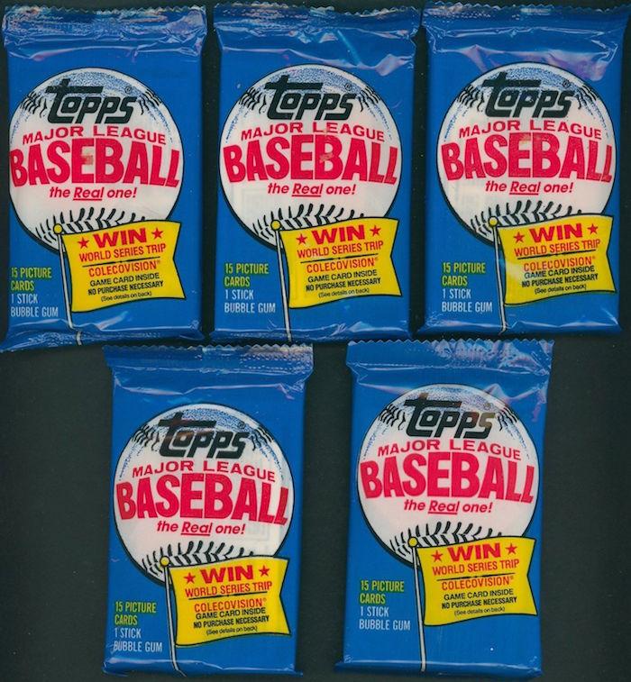 1983 Topps Baseball Unopened Wax Packs (Michigan Packs)