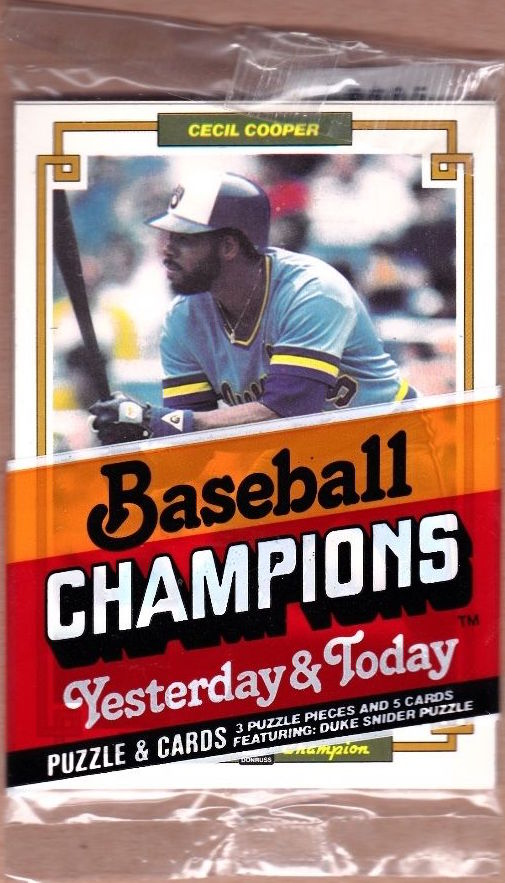 1984 Donruss Baseball Champions Unopened Pack - Cecil Cooper