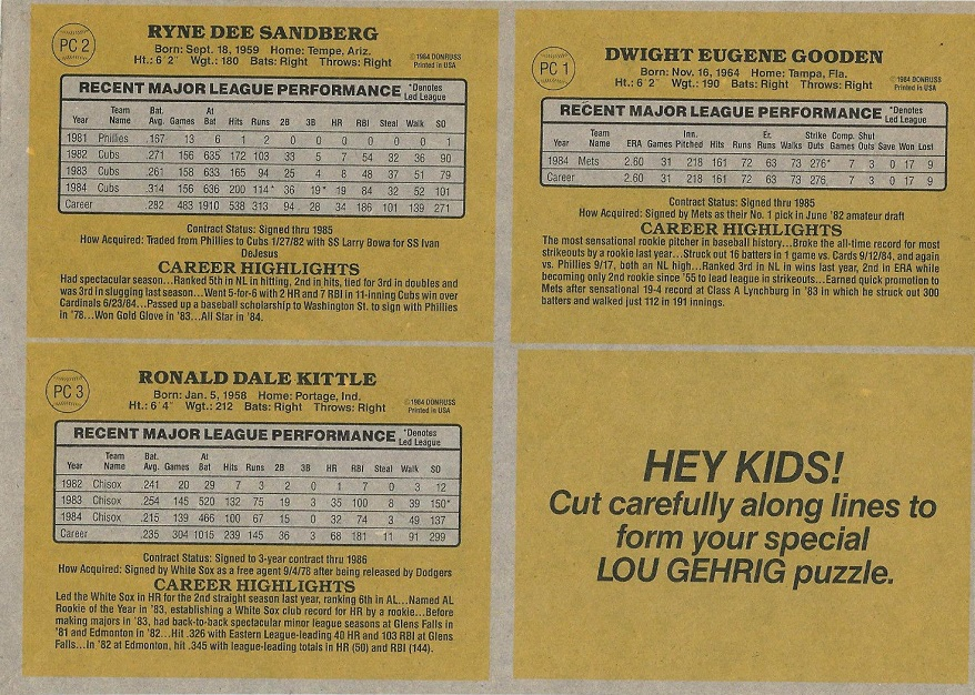 These 1985 Donruss Baseball Cards Were The Bottom Of The Barrel