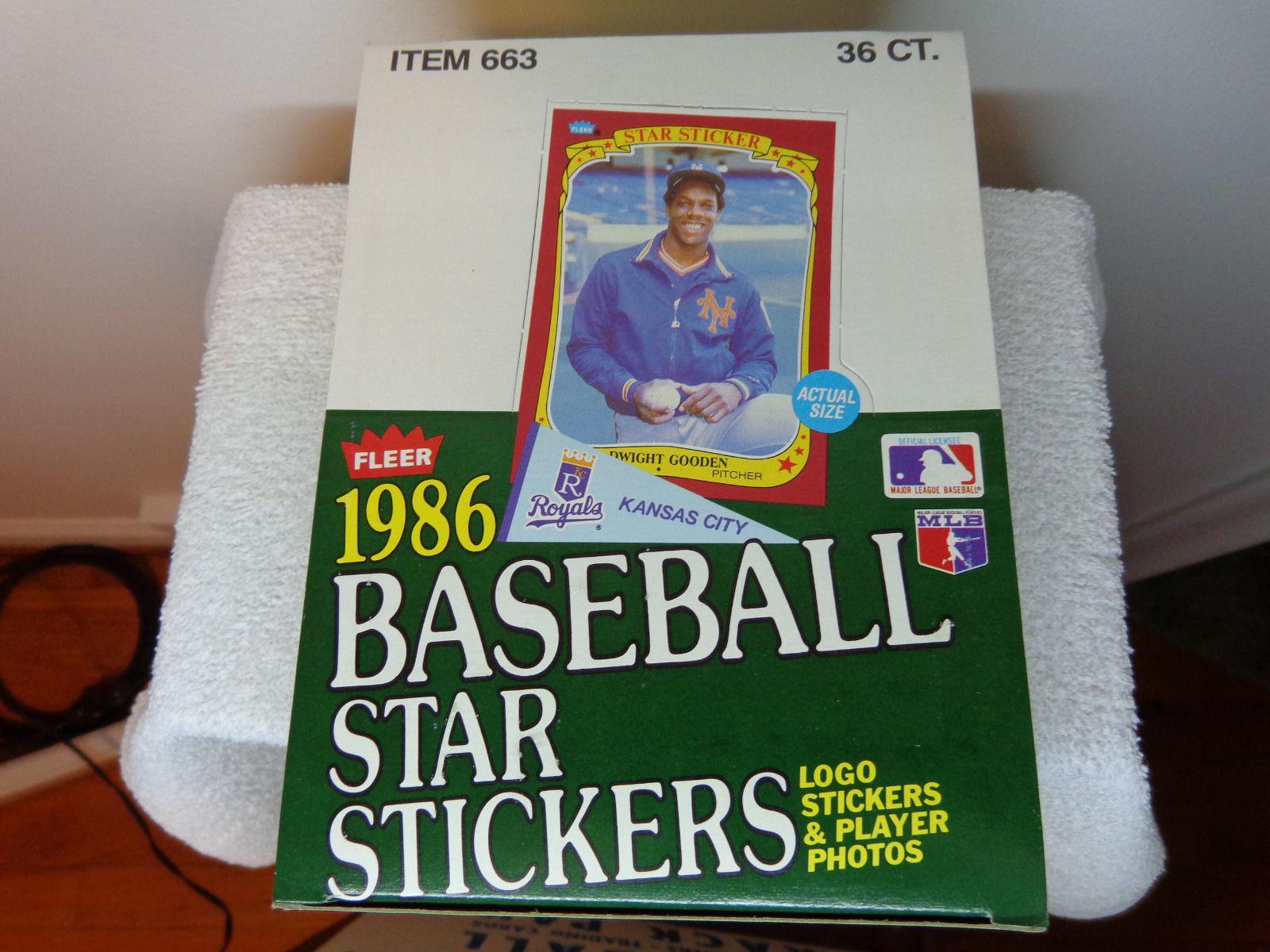 1986 Fleer Star Stickers Unopened Wax Box