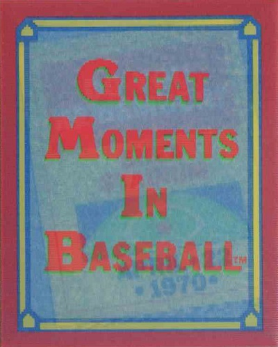 1988 Score Trivia Great Moments in Baseball