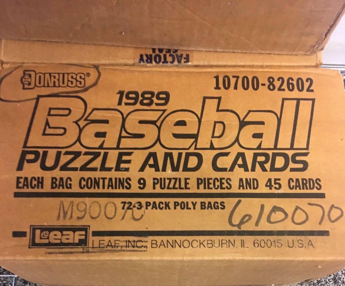 1989 Donruss Baseball Unopened Rack Case