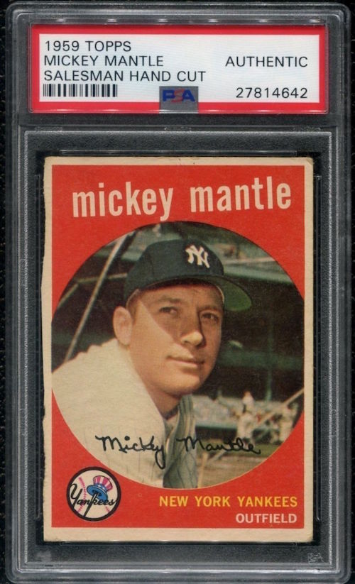 1959 Topps Mickey Mantle Salesman Sample