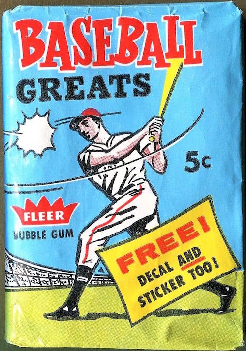 1961 Fleer Baseball Greats Unopened Wax Pack