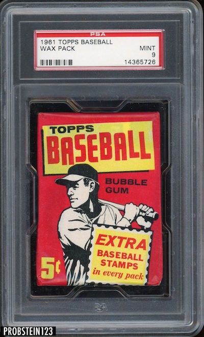 1961 Topps Baseball Cards Unopened Wax Pack