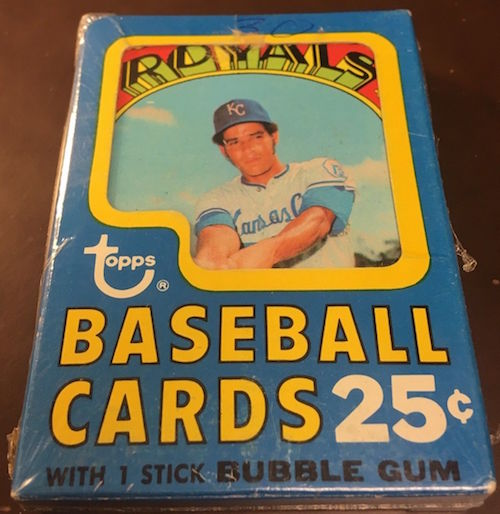 1972 Topps Unopened Cello Pack Amos Otis Top