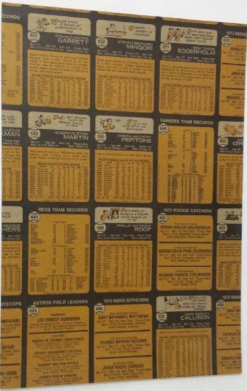 1973 Topps Baseball Partial Uncut Sheet