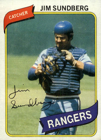 1980 Topps Jim Sundberg