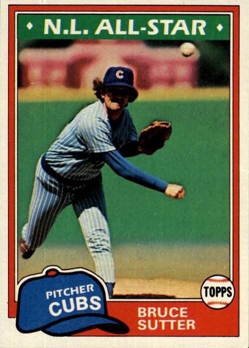 1981 Topps Bruce Sutter