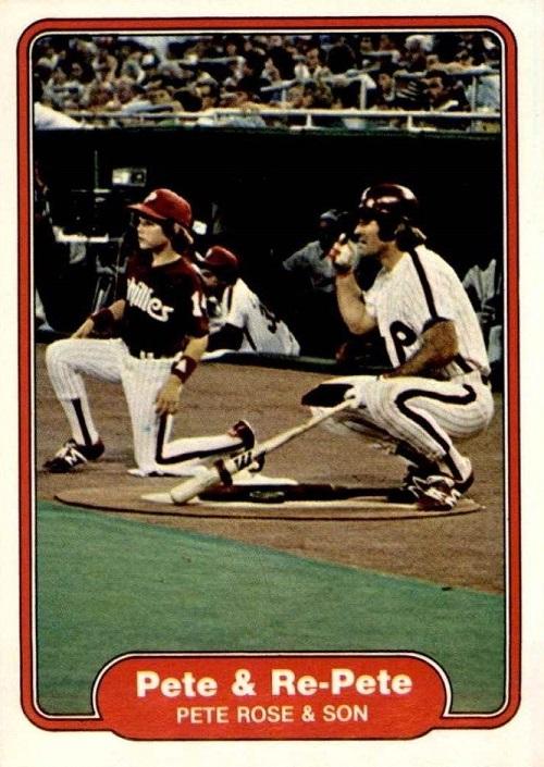 1982 Fleer Pete and Re-Pete Rose