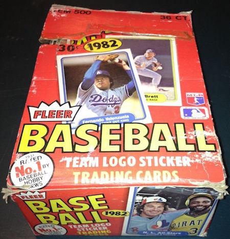 1982 Fleer Unopened Wax Box