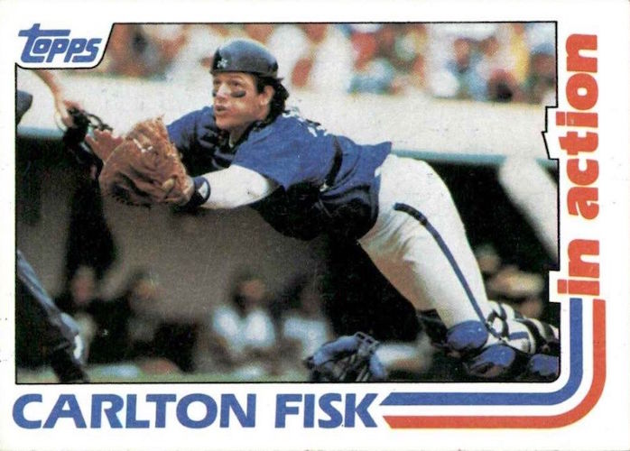 1982 Topps In Action Carlton Fisk
