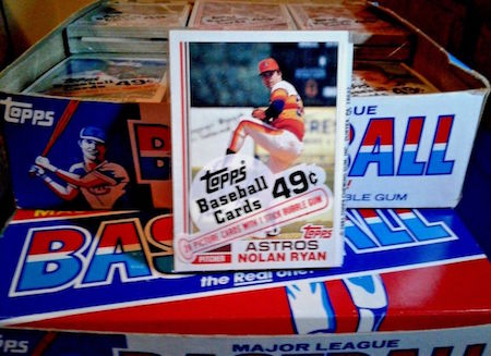 1982 Topps Unopened Cello Nolan Ryan Front