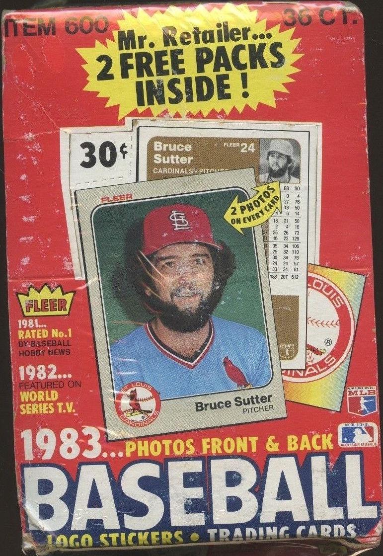 1983 Fleer Baseball Cards Unopened Wax Box