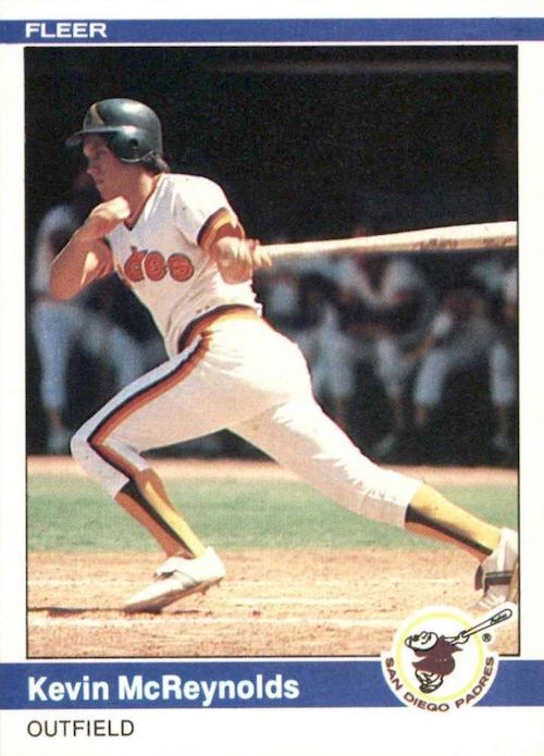 1984 Fleer Kevin McReynolds Rookie Card