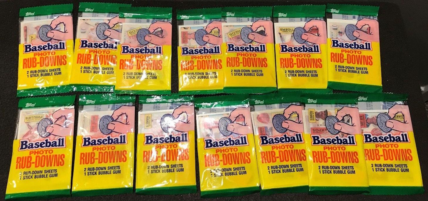 1985 Topps Photo Rub-Downs Unopened Packs