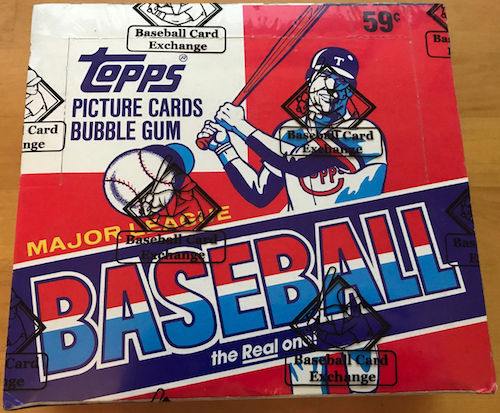 1985 Topps Unopened Cello Pack Box