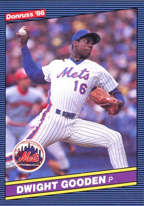 Dwight Gooden Defined 1986 On His Second Donruss Baseball Card