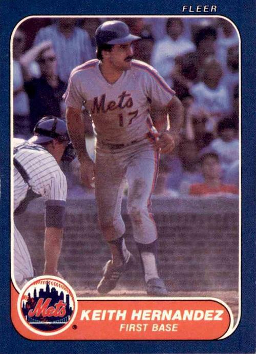1986 Fleer Keith Hernandez
