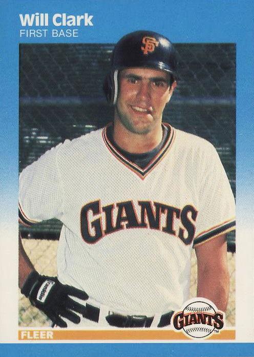 1987 Fleer Will Clark Rookie Card