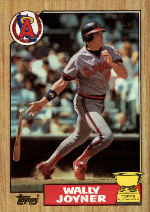1987 Topps Wally Joyner Rookie Card