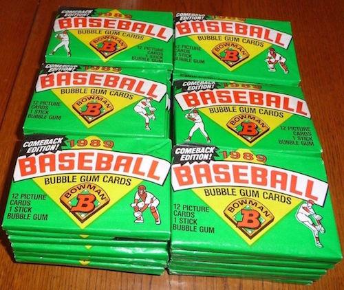 1989 Bowman Wax Packs