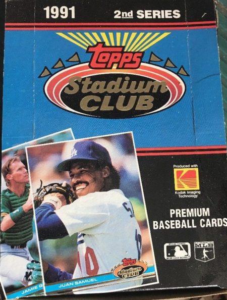 1991 Stadium Club 2nd Series Unopened Box