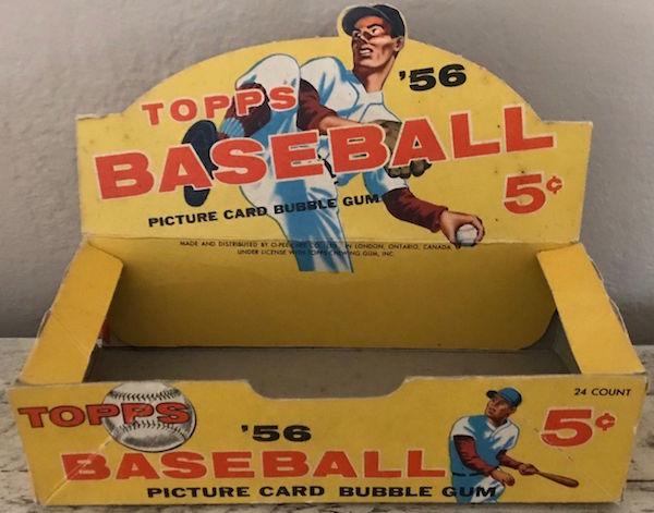 1956 Topps Baseball Card Empty Wax Pack Display Box Wax Pack Gods