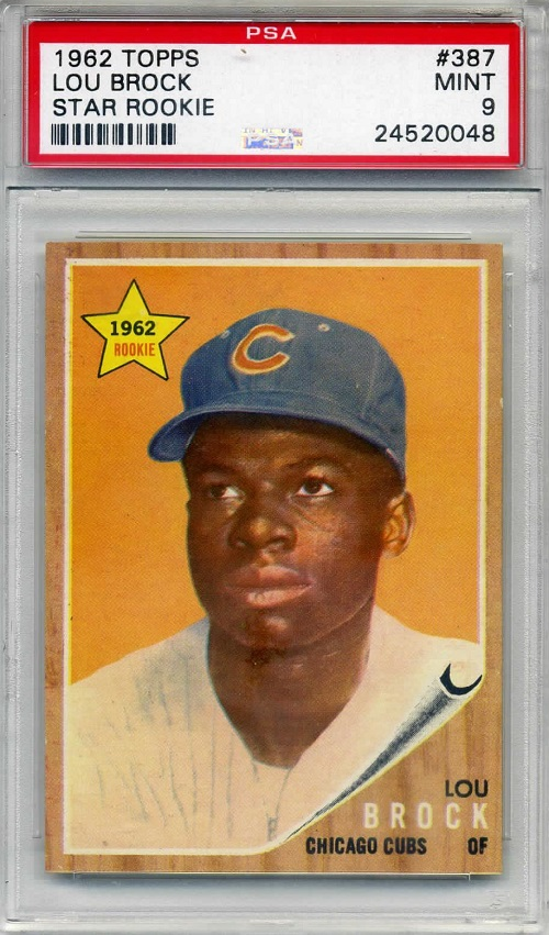 1962 Topps Lou Brock Rookie Card