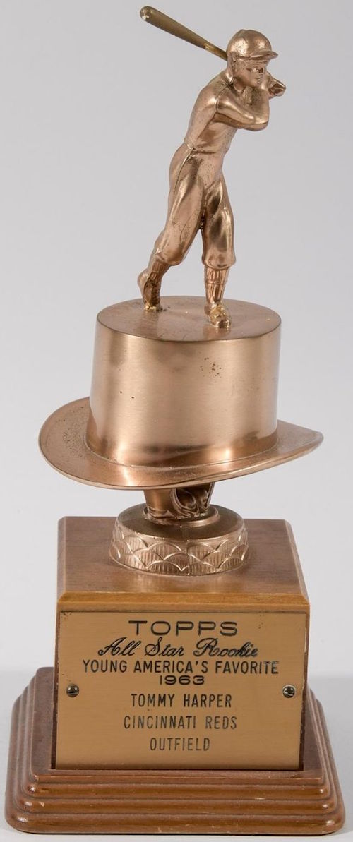 1963 Tommy Harper Topps All-Star Rookie Trophy