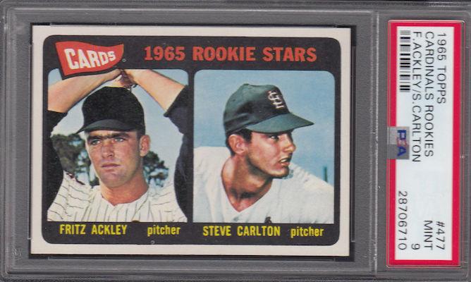 1965 Topps Baseball Steve Carlton Rookie Card
