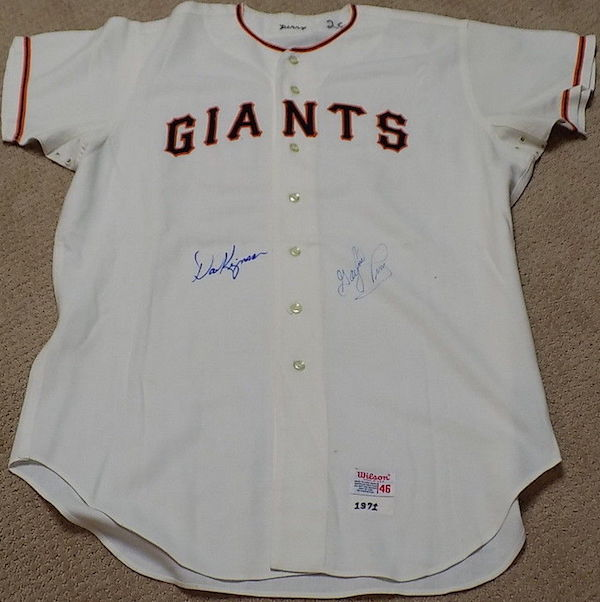 1971-72 Game Worn and Autographed Gaylord Perry and Dave Kingman San Francisco Giants Jersey