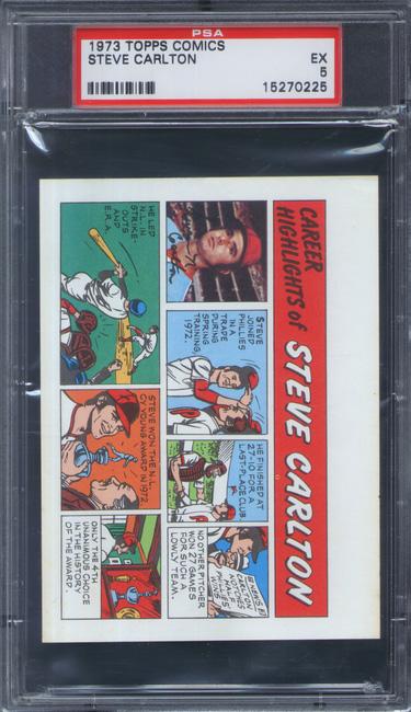 1973 Topps Comics Steve Carlton