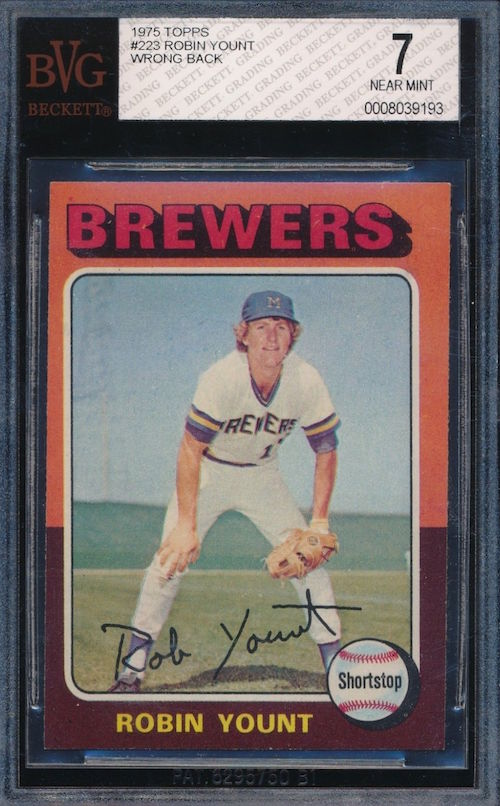 1975 Topps Robin Yount Wrong Back