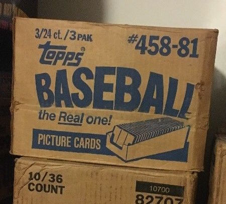 1981 Topps Baseball Unopened Grocery Rack Packs Case