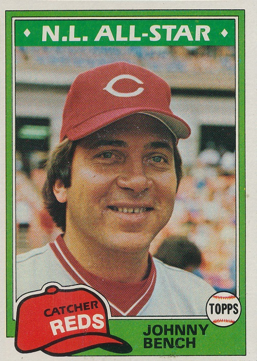 1981 Topps Johnny Bench