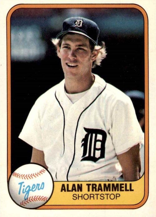1981 fleer alan trammell