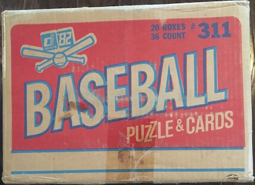 1982 Donruss Wax Case