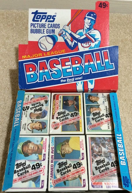 1982 Topps Cello Box