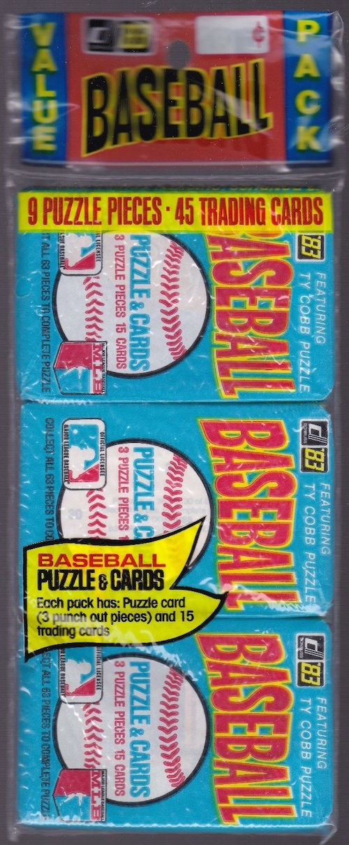 1983 Donruss Baseball Unopened Rack Pack