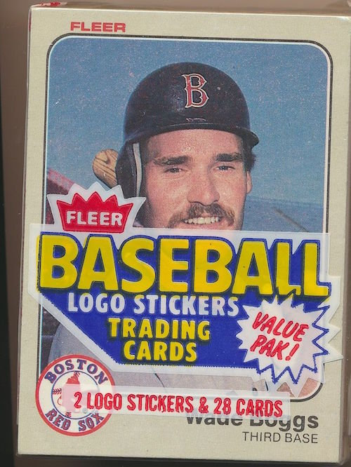 1983 Fleer Cello Pack Wade Boggs