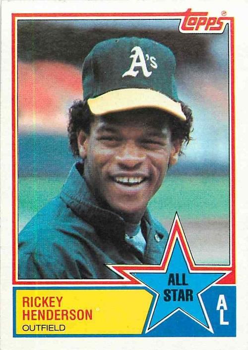 1983 Topps Rickey Henderson All-Star