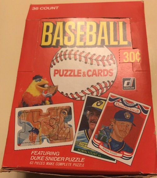 1984 Donruss Unopened Wax Box